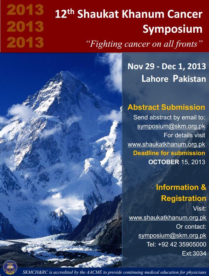 12th Shaukat Khanum Cancer Symposium