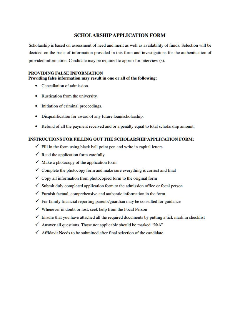 Guidelines for form submission
