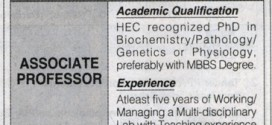 Associate Professors Jobs in Bahria University Karachi