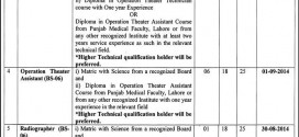 Perfusionist & Technicians Jobs in Punjab Institute of Cardiology