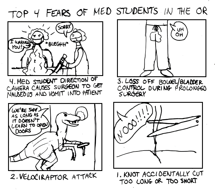 Top 4 Fears of Med Students In The OR