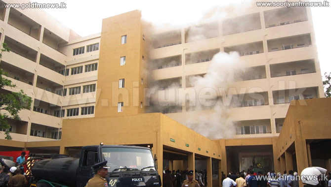 250 million worth new MRI machine at Anuradapura Teaching hospital destroyed by fire