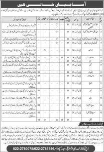 Medical Assistant Jobs in Combined Military Hospital Hyderabad