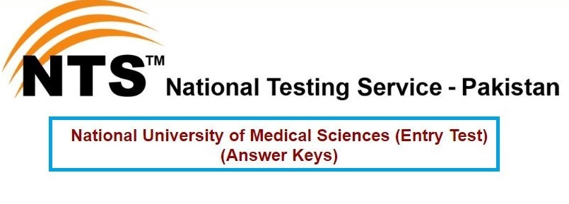 NTS NUMS Entry Test MBBS BDS Answer Key Result 2017
